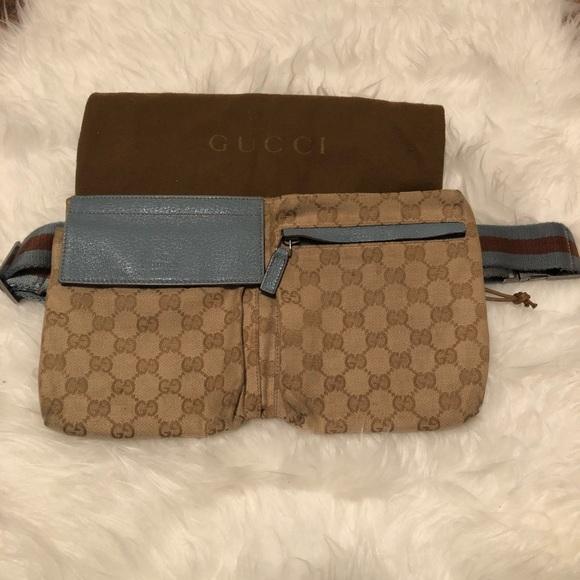 84e74ad94b0f6f Gucci Bags | Monogram Blue Fanny Pack Waist Belt Bag | Poshmark
